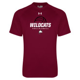 Under Armour Maroon Tech Tee-Volleyball Ball
