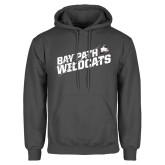 Charcoal Fleece Hoodie-Bay Path Wildcats Slashes