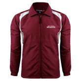 Colorblock Maroon/White Wind Jacket-Bay Path Wildcats