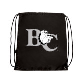Black Drawstring Backpack-Official Logo