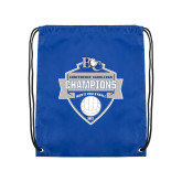 Royal Drawstring Backpack-Conference Carolinas Champions - Mens Volleyball