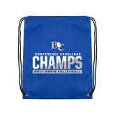 Royal Drawstring Backpack-Conference Carolinas Champs - Mens Volleyball Two Tone