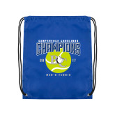 Royal Drawstring Backpack-Conference Carolinas Champions - Mens Tennis