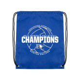 Royal Drawstring Backpack-2017 Womens Volleyball Champions