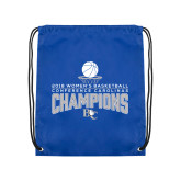 Royal Drawstring Backpack-2018 Womens Basketball Champions