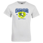 White T Shirt-Conference Carolinas Champions - Mens Tennis