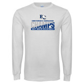 White Long Sleeve T Shirt-Conference Carolinas Champs - Mens Volleyball Two Tone