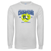 White Long Sleeve T Shirt-Conference Carolinas Champions - Mens Tennis