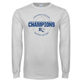 White Long Sleeve T Shirt-2017 Womens Volleyball Champions