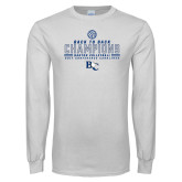 White Long Sleeve T Shirt-2017 Womens Volleyball Champions back to back