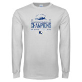 White Long Sleeve T Shirt-2019 Mens Swimming Champions