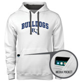 Contemporary Sofspun White Hoodie-Arched Bulldogs