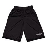 Russell Performance Black 10 Inch Short w/Pockets-Wordmark