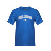 Youth Royal T Shirt-Arched Bulldogs