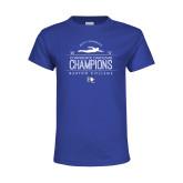 Youth Royal T Shirt-2019 Mens Swimming Champions