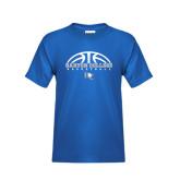 Youth Royal T Shirt-Basketball Design