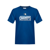 Youth Royal T Shirt-Conference Carolinas Champs - Mens Volleyball Two Tone