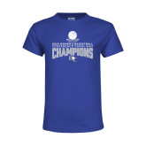 Youth Royal T Shirt-2018 Womens Basketball Champions