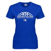 Ladies Royal T Shirt-Basketball Design