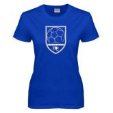 Ladies Royal T Shirt-Soccer Design