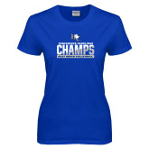 Ladies Royal T Shirt-Conference Carolinas Champs - Mens Volleyball Two Tone