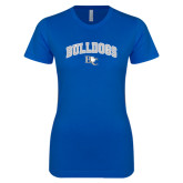 Next Level Ladies SoftStyle Junior Fitted Royal Tee-Arched Bulldogs