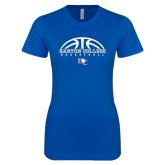 Next Level Ladies SoftStyle Junior Fitted Royal Tee-Basketball Design