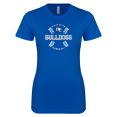Next Level Ladies SoftStyle Junior Fitted Royal Tee-Baseball Design