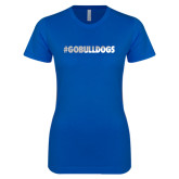 Next Level Ladies SoftStyle Junior Fitted Royal Tee-Go Bulldogs