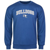 Royal Fleece Crew-Arched Bulldogs