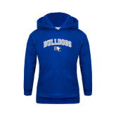 Youth Royal Fleece Hoodie-Arched Bulldogs