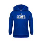 Youth Royal Fleece Hoodie-Conference Carolinas Champs - Mens Volleyball Two Tone