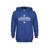 Youth Royal Fleece Hoodie-2017 Womens Volleyball Champions back to back