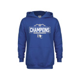 Youth Royal Fleece Hoodie-2018 Womens Swimming Champions