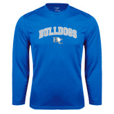 Performance Royal Longsleeve Shirt-Arched Bulldogs