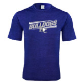 Performance Royal Heather Contender Tee-Stencil Bulldogs