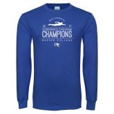 Royal Long Sleeve T Shirt-2019 Mens Swimming Champions