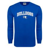 Royal Long Sleeve T Shirt-Arched Bulldogs