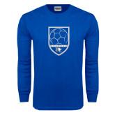 Royal Long Sleeve T Shirt-Soccer Design