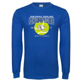 Royal Long Sleeve T Shirt-Conference Carolinas Champions - Mens Tennis