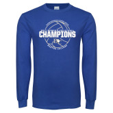 Royal Long Sleeve T Shirt-2017 Womens Volleyball Champions