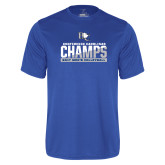 Performance Royal Tee-Conference Carolinas Champs - Mens Volleyball Two Tone