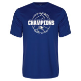 Performance Royal Tee-2017 Womens Volleyball Champions