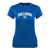 Ladies Syntrel Performance Royal Tee-Arched Bulldogs