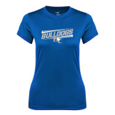 Ladies Syntrel Performance Royal Tee-Stencil Bulldogs