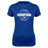 Ladies Syntrel Performance Royal Tee-2017 Womens Volleyball Champions