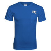 Royal T Shirt w/Pocket-Official Logo