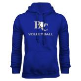 Royal Fleece Hoodie-Volleyball