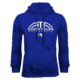 Royal Fleece Hoodie-Basketball Design