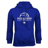 Royal Fleece Hoodie-Volleyball Design